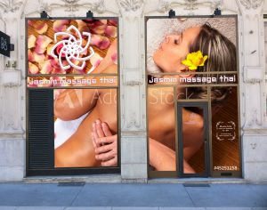 La vitrine de Jasmin Massage Grenoble